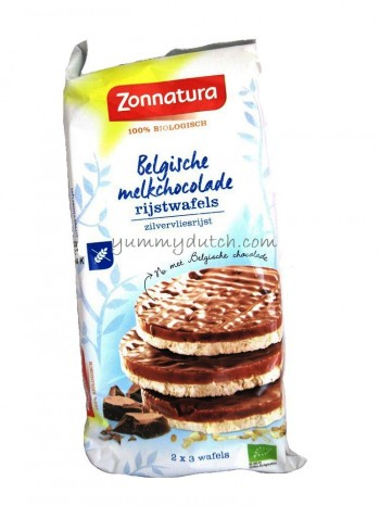 Zonnatura Organic Puffed Rice Cakes Milk Chocolate