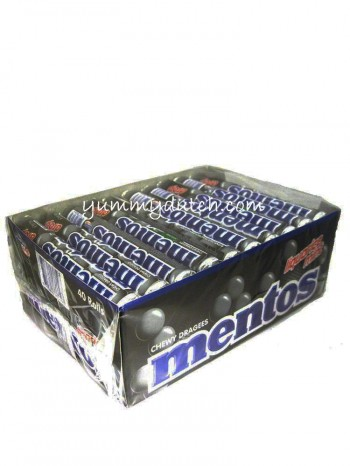 Van Melle Mentos Black Licorice 40 Rolls