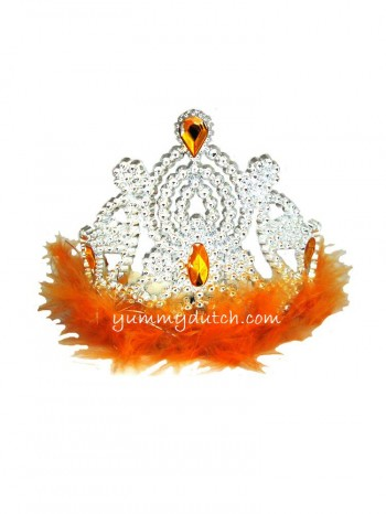 YD Orange Crown With Feathers