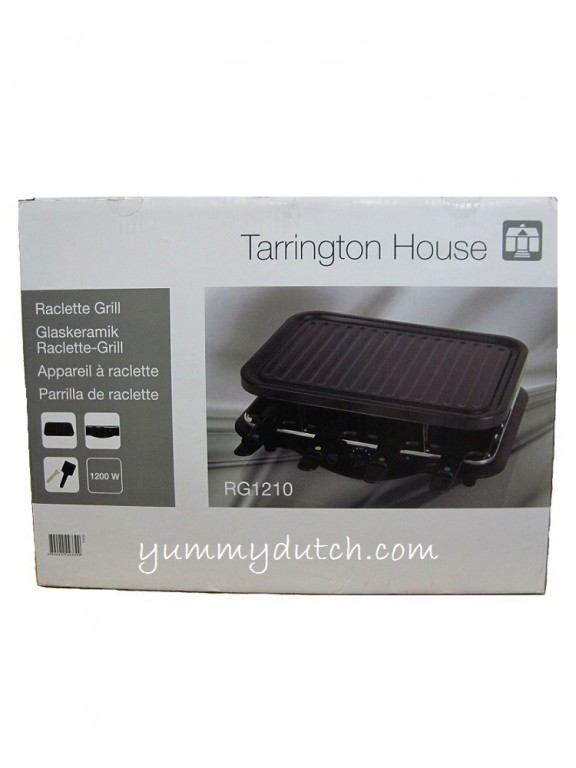 Raclette grill set tarrington house yummy dutch for Tarrington house grill