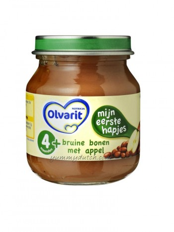 Nutricia Olvarit My First Meal Beans Apple 4 Mnths