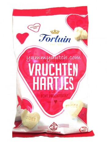 Fortuin Fruit Hearts Sugar Candy
