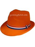 YD Orange Trilby Hat NL Ribbon