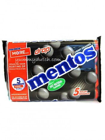 Van Melle Mentos Black Licorice 5 Rolls