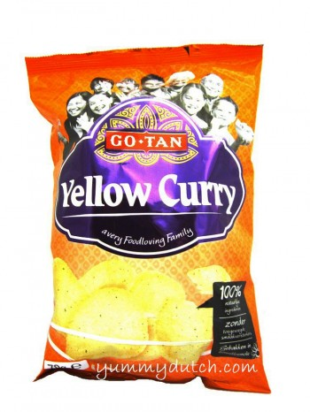 Go Tan Yellow Curry Prawn Crackers