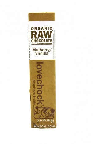 Lovechock Organic Chocolate Bar Mulberry-Vanilla