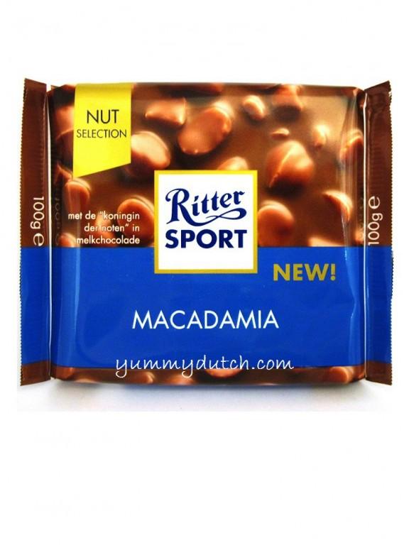 Milk Chocolate Macadamia Nuts Ritter Sport Yummy Dutch