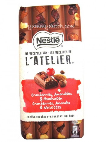 Nestle LAtelier Milk Chocolate Cranberry Almond Hazelnut