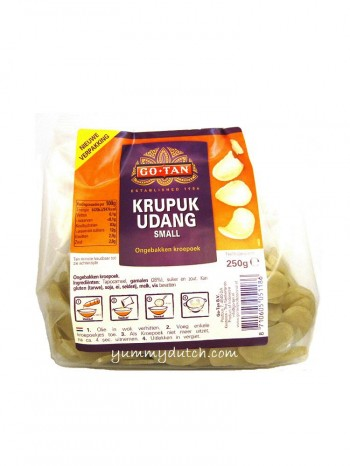 Go Tan Unfried Prawn Crackers Small - Krupuk Udang