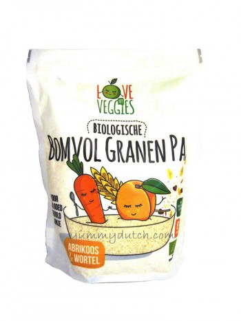 LoveMyVeggies Organic Full Of Grains Apricot & Carrot Porridge 8 Months