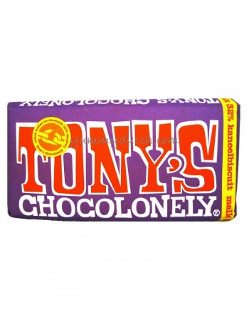 Tonys Chocolonely Milk Chocolate With Cinnamon Biscuit